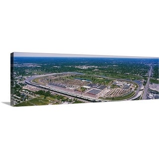 Premium Thick-Wrap Canvas entitled Aerial view of a city, Indianapolis Motor Speedway, Indianapolis, Indiana - Multi-color