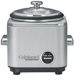 Cuisinart CRC-400 Rice Cooker With Steamer, Stainless Steel