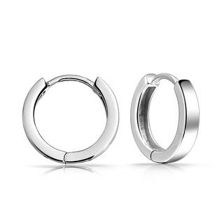 Bling Jewelry 925 Sterling Silver Mens Mini Small Hoop Hoop Earrings