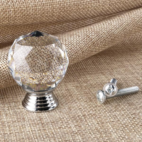 Yellow Crystal Glass Knobs Set Of 6 Kitchen Cabinet Cupboard Glass Door Knobs Dresser Wardrobe Drawer Pull By Perilla Home