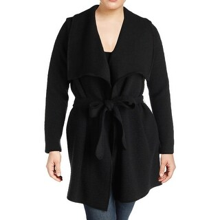 Calvin Klein Womens Plus Cardigan Sweater Shawl Collar Open Front - 1x