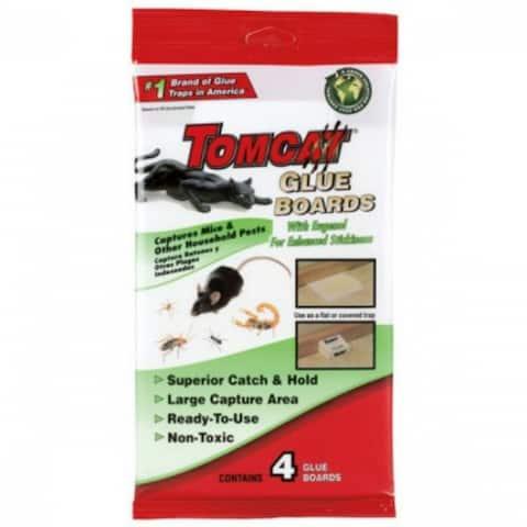Tomcat 4524218 Household Pest Glue Boards, 4-Pack