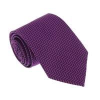 Missoni U4519 Purple Herringbone 100% Silk Tie - 60-3