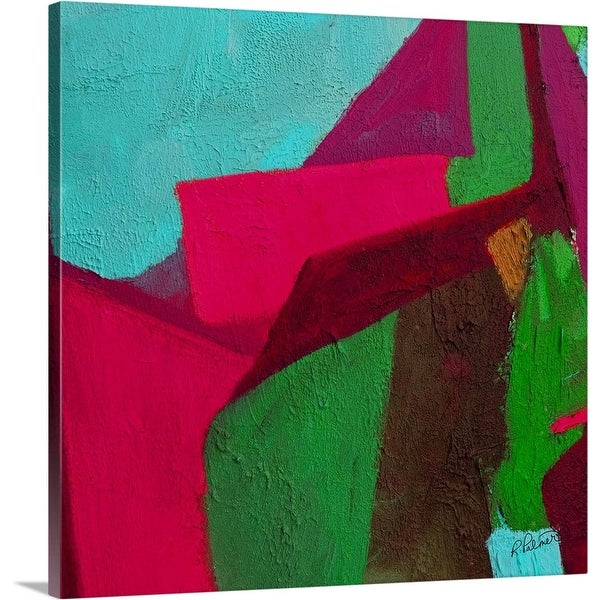 """Pile Up Pink"" Canvas Wall Art"