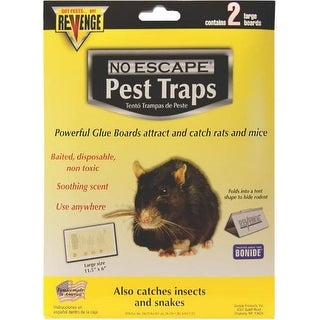 Bonide 47054 Revenge Glue Boards For Rats, 2 Pack