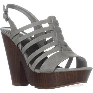 G by GUESS Seany2 Platform Gladiator Sandals, Dark Grey