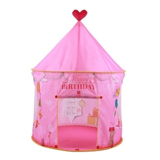 Kids Play Tent - convinientlly Folds in to a Carrying Bag, Foldable Pop Up Pink Play Tent/House Toy for Indoor & Outdoor Use