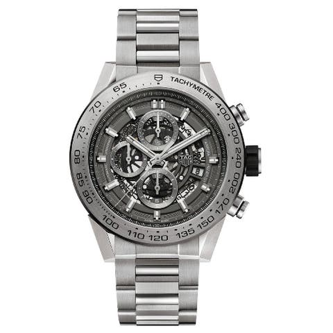 Tag Heuer Men's CAR2A8A.BF0707 'Carrera' Chronograph Automatic Titanium Watch - Grey