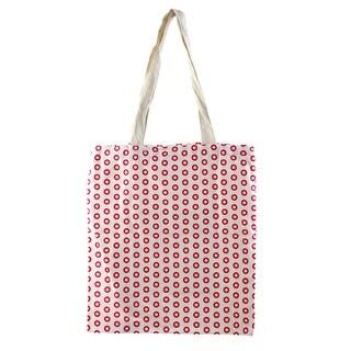 Travel Sundries Storage Ring Print Handbag Single Shoulder Canvas Tote Bag