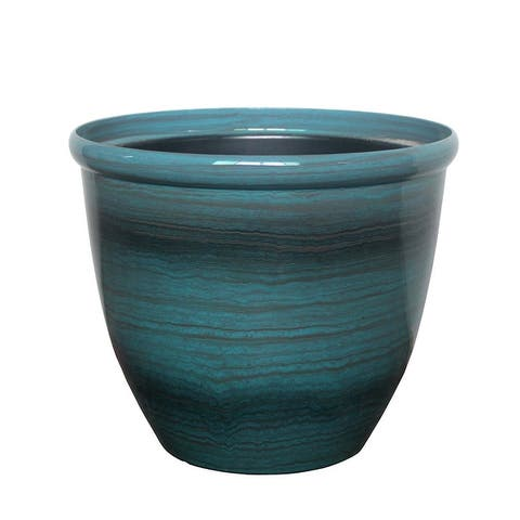 The Your Choice Oriental Indoor and Outdoor Plastic Resin Planter Pot - 10 Inches