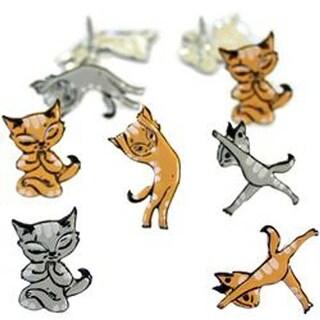 Yoga Cat - Eyelet Outlet Shape Brads 12/Pkg