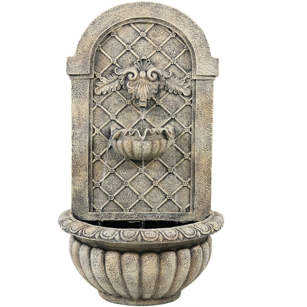 Sunnydaze Venetian Solar Outdoor Wall Fountain - Multiple Colors Available - Thumbnail 4