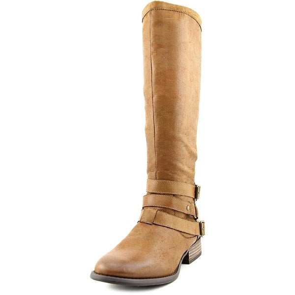 Coconuts By Matisse Frontera Women Round Toe Canvas Brown Knee High Boot