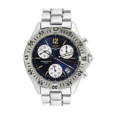Breitling Men's A53035 'Colt' Chronograph Stainless Steel Watch - Blue
