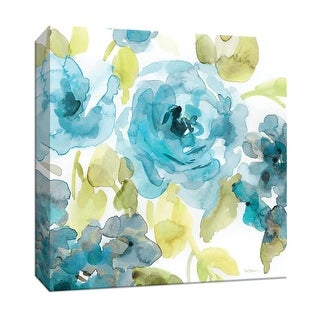 """PTM Images 9-147372  PTM Canvas Collection 12"""" x 12"""" - """"Belle's Blue II"""" Giclee Flowers Art Print on Canvas"""