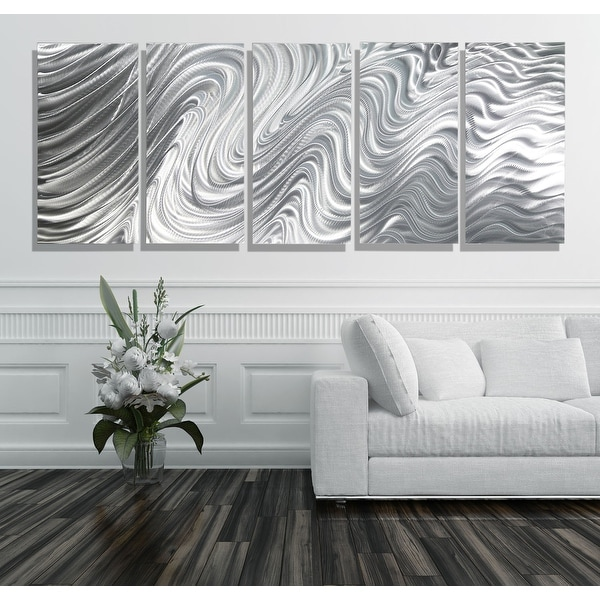 Statements2000 Extra Large 5 Panel Metal Wall Art Sculpture by Jon Allen - Hypnotic Sands 5P XL