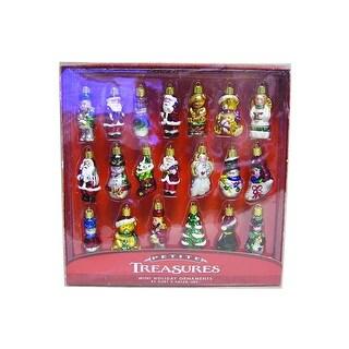 "2"" Petite Treasures 20pc Christmas Mini Glass Ornament Set"