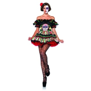 Day Of The Dead Doll 2 Piece Adult Female Costume