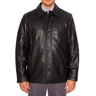 Perry Ellis Mens Leather Coat
