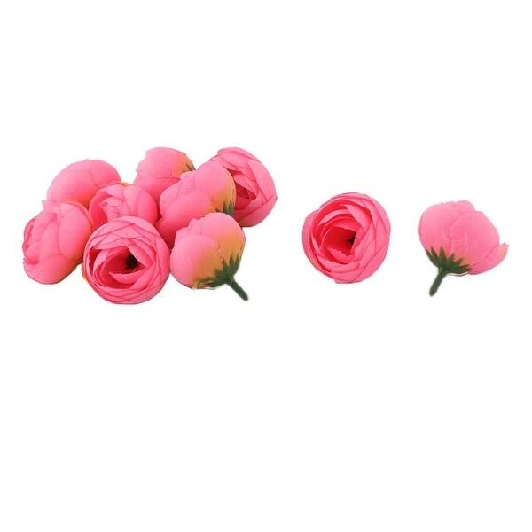 Bride Wedding Fabric Artificial Flower Buds Heads DIY Garland Decor Pink 10pcs