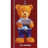 """RUSS Very Beary """"Co-Worker"""" Christmas Ornament #32008"""