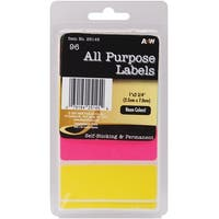 "Labels-Neon All Purpose 1""X2.75"" 96/Pkg"