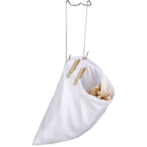 Honey Can Do DRY-01313 Hanging Cotton Clothespin Bag