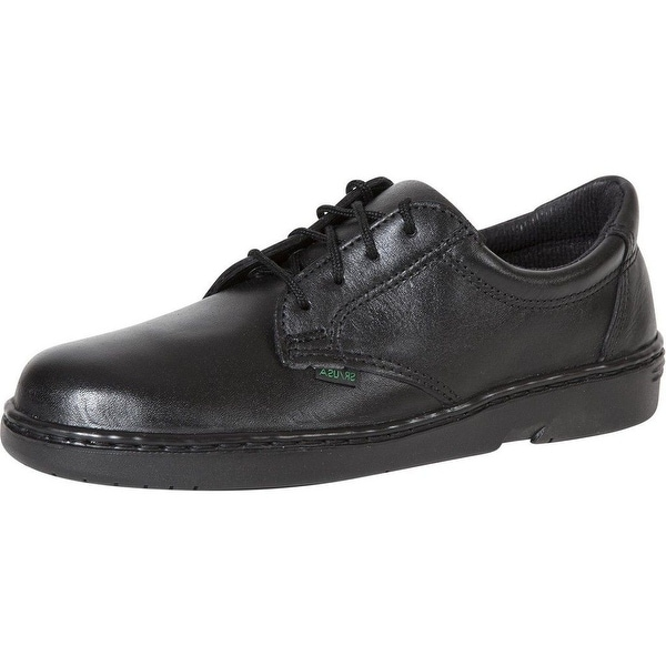 Rocky Work Shoes Womens Flat Sole Oxford SR USA Postal Black