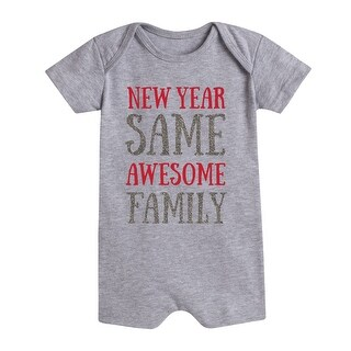 New Year Same Family Sparkle - First New Year Infantromper