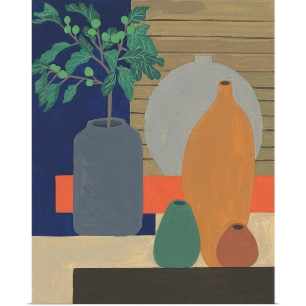 """Vases on a Shelf III"" Poster Print"