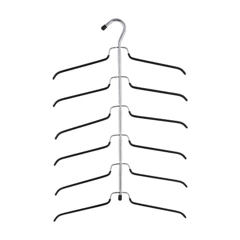 Neu Home 6 Tier Blouse Tree Hanger in Chrome - 6.25 x 24.50 x 0.50 Inches