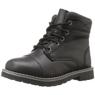 Crevo Boys Camden Combat Boots Faux Leather Ankle