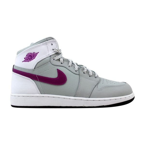 03a51d9518c6b Shop Nike Grade-School Air Jordan 1 Retro High GG Grey Mist/Fuchsia ...