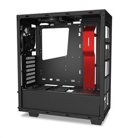 NZXT CA-S340MB-GR ATX Mid-Tower NO PS 0/0/(3) Bay USB Black Red No LED Black Inteor Retail