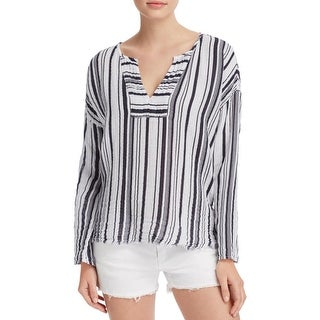 Velvet Womens Tunic Top Cotton Striped