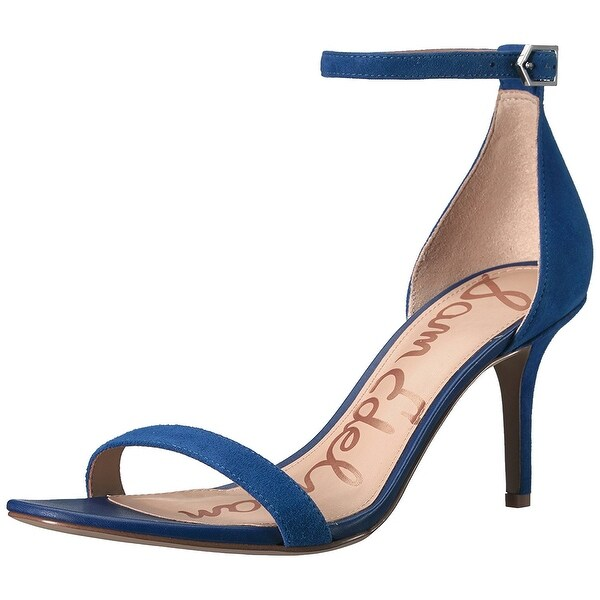 Sam Edelman Womens Patti Leather Open Toe Casual Ankle Strap Sandals