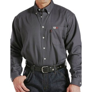 Cinch Work Shirt Mens L/S WRX FR Logo Sateen Charcoal WLW3002005
