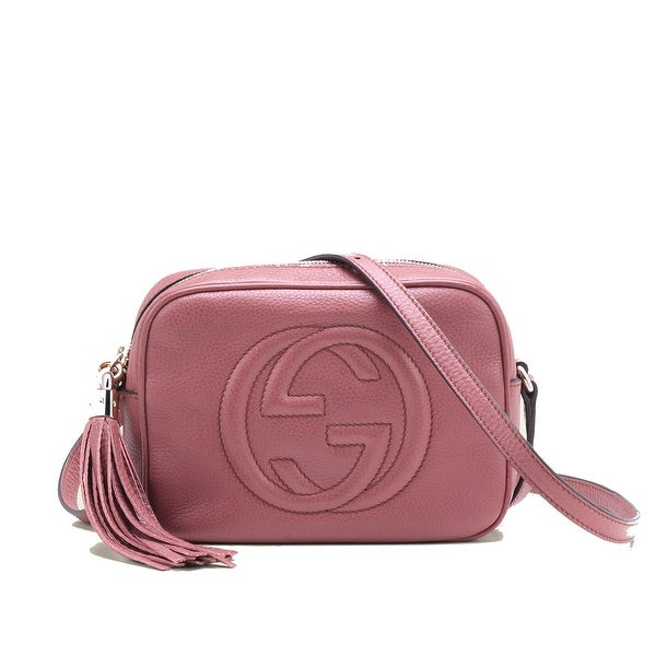 Gucci Soho Leather Disco Bag Dark Pink