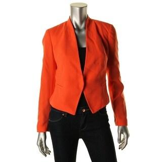 Rachel Rachel Roy Womens Lined Stand Collar Crop Blazer