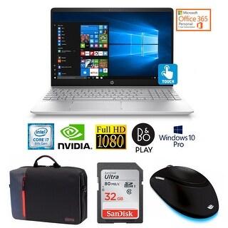 "HP 15-CC Core i7-8850U 16GB 15.6"" FHD Touch NVIDIA 4GB Win 10 Pro Laptop Bundle"