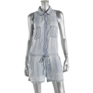 Rails Womens Collar Sleeveless Romper - S