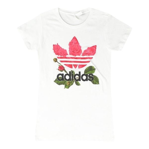 Shop Adidas Classic Logo Roses Design Trefoil Women s White T-shirt - Free  Shipping On Orders Over  45 - Overstock - 17065388 1f05690d5e