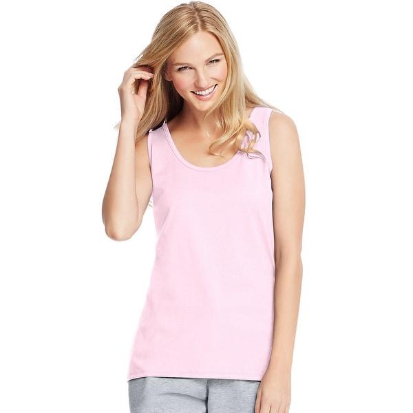 Hanes Live.Love.Color®; Scoop Neck Tank - Size - L - Color - Paleo Pink