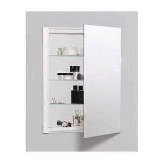 "Robern RC2026D4FP1 R3 20"" x 26"" x 4"" Plain Single Door Medicine Cabinet with Rev"
