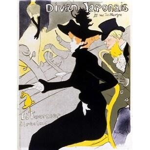 ''Divan Japonais'' by Henri de Toulouse-Lautrec Vintage Advertising Art Print (31 x 23.875 in.)