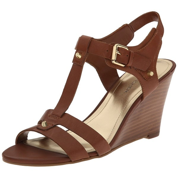Marc Fisher Womens Cassy Leather Open Toe Casual Platform Sandals
