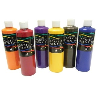 Chroma Acrylic Essential Set, 1 pt Bottle, Assorted Secondary Colors, Set of 6