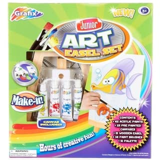 Junior Art Easel and Paint Set|https://ak1.ostkcdn.com/images/products/is/images/direct/9b9e1f099806d9904948c5b9053e97b41f9ab0a4/Junior-Art-Easel-and-Paint-Set.jpg?impolicy=medium