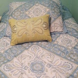 Madison Park Essentials Brooke Blue Complete Comforter and Cotton Sheet Set