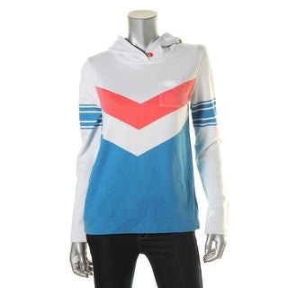 Tommy Hilfiger Womens French Terry Colorblock Hoodie - S